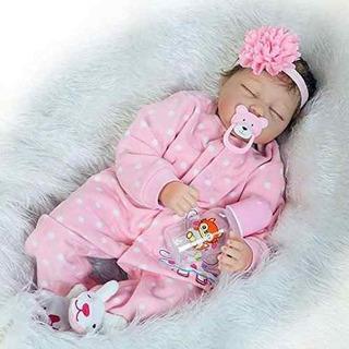 Muñeca De Silicona Reborn Baby Girl Look Real Ojo De Rosa C