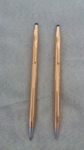 Cross Pen & Pencil 1/20 14 Kt Gold Filled