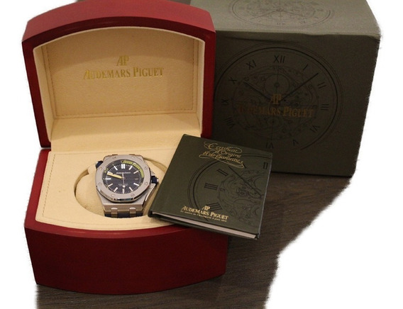 Reloj Tipo Audemars Piguet Diver Azul Con Estuche 760180stbl