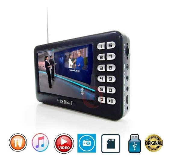 Tv Digital Portatil 4.3 Radio Fm Pendrive Card Hd Video