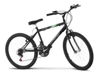 Bicicleta Aro 24 Pro Tork Ultra Freio V Break Preto Fosco