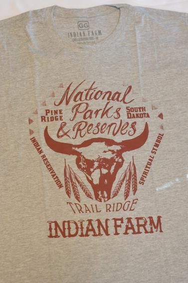 Camiseta Basica Cinza Touro Longhorn Cowboy