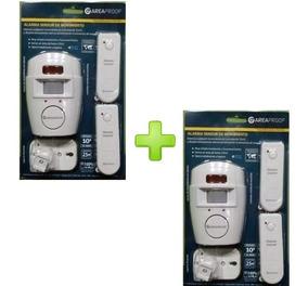 Combo 2 Alarma Domiciliaria Con Sensor De Movimiento 2 Zonas