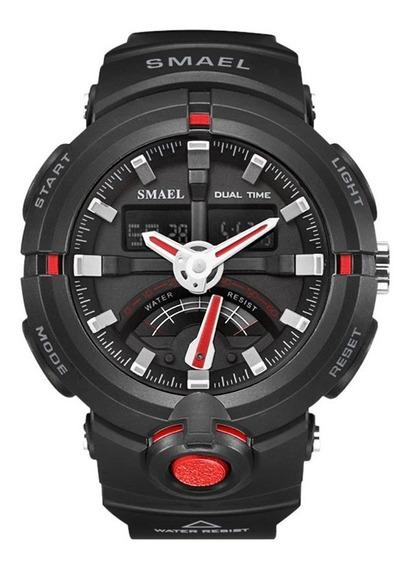 Relógio Masculino Militar Esportivo Digital Smael 1637