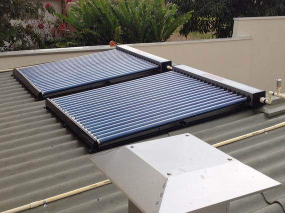 Coletor Solar Vacuo25 Tubos Produz 400lts / Dia Agua Quente.