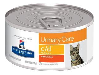 Lata De Alimento Hills Urinary C/d Cd Para Gato 156 Gr