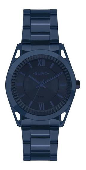 Relógio Euro Feminino Ref: Eu2035ypq/4a Metal Frame Azul
