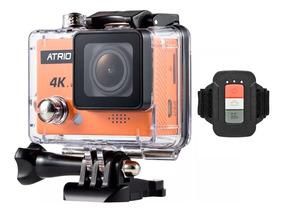 Câmera Capacete Atrio Filma 4k Go Sports Wifi 90fps Controle