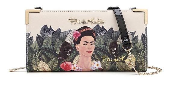 Frida Kahlo Original Billetera Fj928 Black