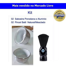 Kit 02 Saboeira Ceramica E Aluminio E 02 Pincel Batil