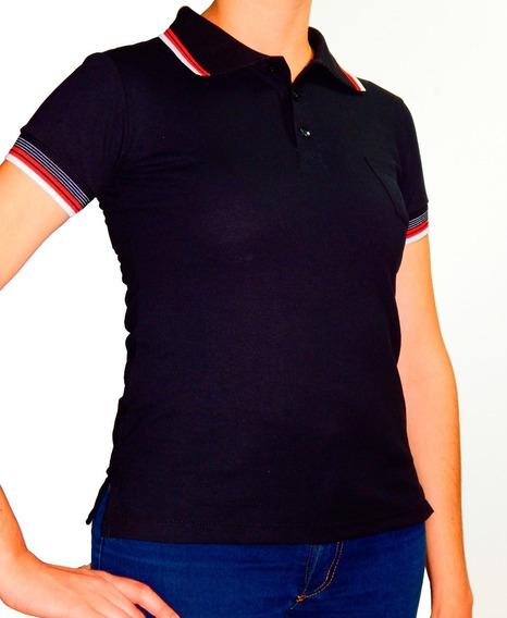 Camiseta Baby Look Gola Polo Piquet Pa Feminina Lisa Cores