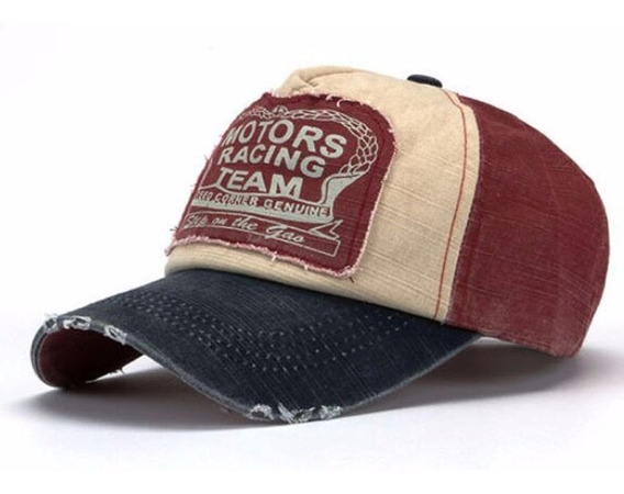 Gorras Cap Motor Racing Gastadas Con Logo Importadas