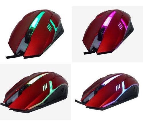 Mouse Gamer Óptico Knup Usb 3.0, 1400 Dpi Com Led Colorida.