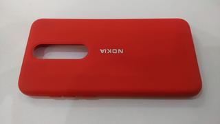 Funda Silicone Case Tipo Original Con Felpa Nokia 5.1 Plus