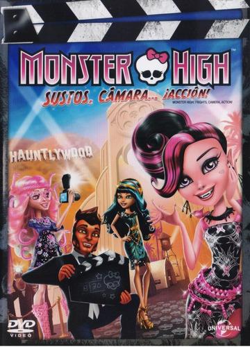 Monster High Sustos Camara Accion Pelicula Dvd