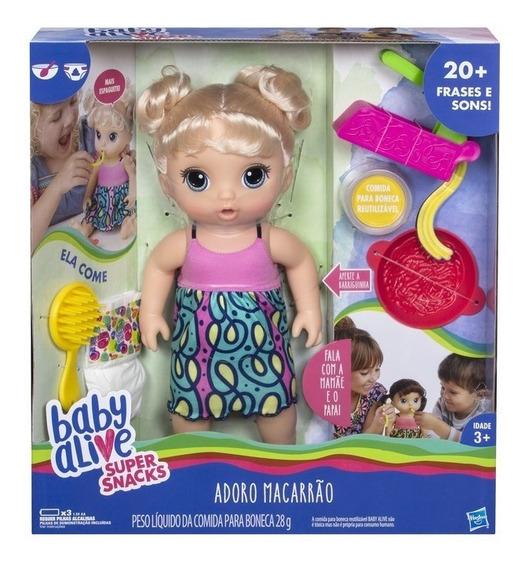 Boneca Baby Alive Adoro Macarrão Loira - Hasbro C0963