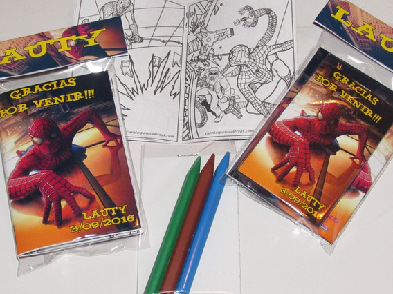 40 Libritos Colorear 15x20 Con 6 Lapices Souvenir
