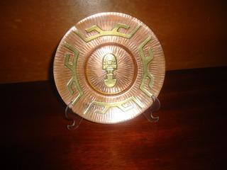 Prato Decorativo Do Peru Emblema Dos Incas Antigo