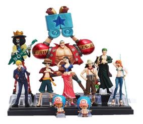 Kit 10 Figure Action Bonecos One Piece Figuarts Top