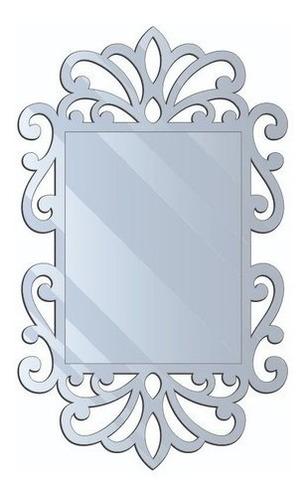 Espelho Decorativo Arabesco Acrílico 80x50 Cm -frete Grátis