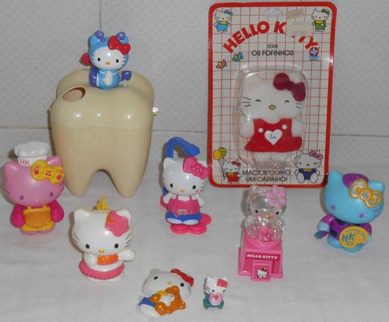 Hello Kitty Lote2 C/9 Itens Fofinhos Porta Escova De Dentes