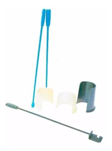 Imagen 1 de 6 de Calzador Plástico De Medias Con Barras+regulacion+sacamedias