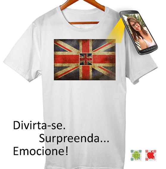 Camiseta Com Qr Code Selfmania Inglaterra