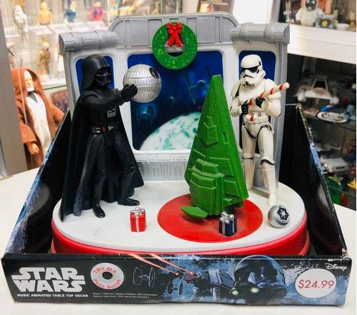 Star Wars Disney Playset Musical Navidad Darth Vader Unico