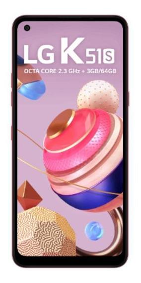 Smartphone LG K51s 64gb 32mp+5mp+2mp+2mp 6,55 Vermelho