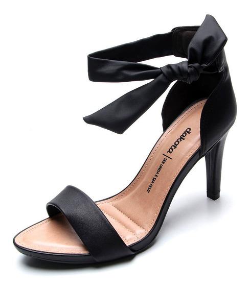 Sandália Dakota Salto Alto De Amarrar Feminina - Preta