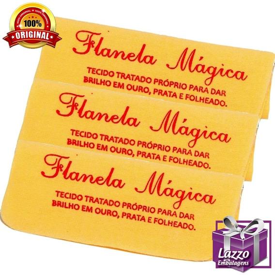 Kit Com 3 Flanelamagica Limpar Aliança Moeda Antiga