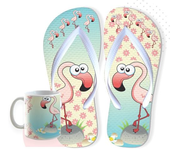 Chinelo Flamingo Infantil Envio Imediato Postagem Em 24horas