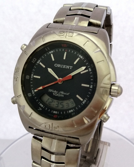 Relógio: Orient Anadigi Dark Blue (100% Aço Inox) Mbssa010
