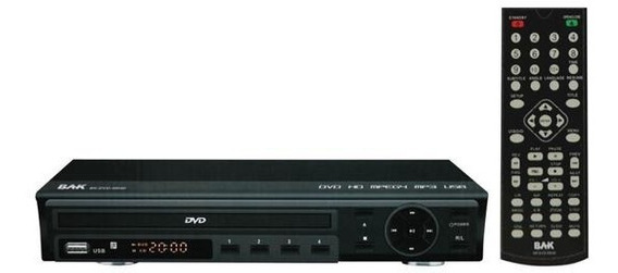 Dvd Bak Bk-dvd-55hd Com Usb Bivolt + Cabo Hdmi