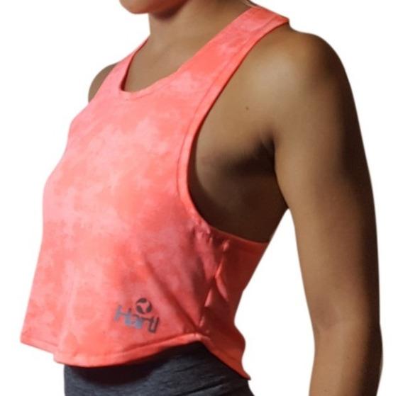 Id300 Musculosa Corta Mujer Hartl Rosa Deportiva