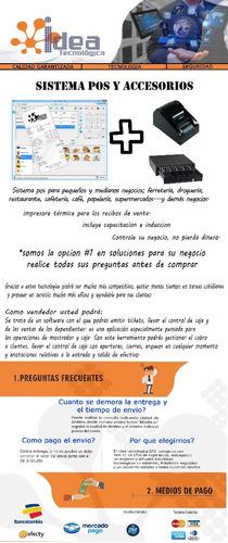 Imagen 1 de 4 de Combo Software Pos Impresora Y Cajon Monedero