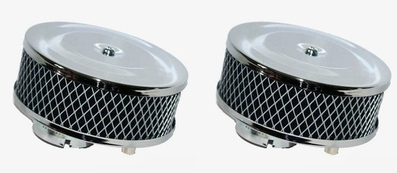 Filtros Esportivos Cromados Para Carburadores Solex 32 / 34