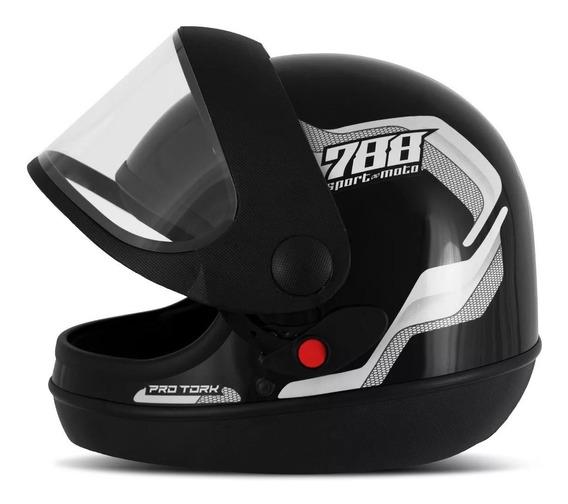 Capacete Automático Fechado Pro Tork Sport Moto 788