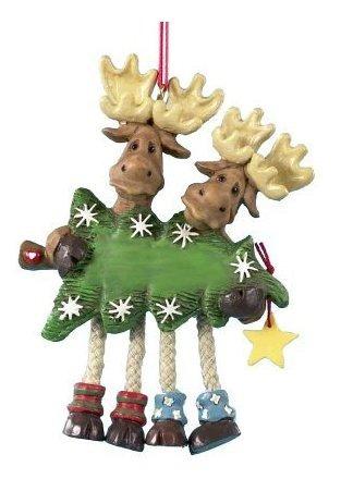 425 Resina Moose Par Ornament  Navidad Ornamento
