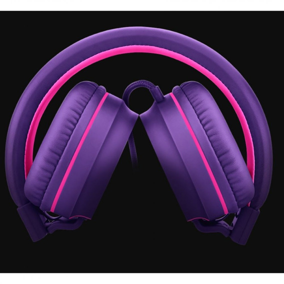 Over Ear Wired Stereo Áudio Pulse Roxo