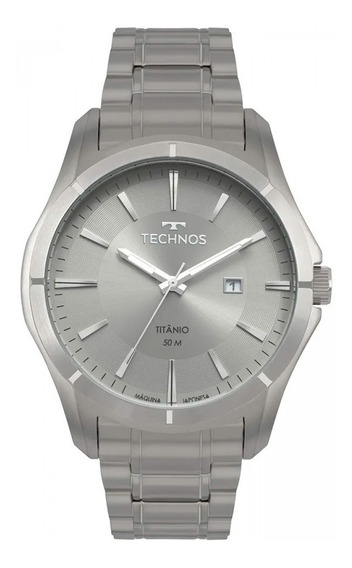 Relógio Technos Masculino Executive Titânio Analógico 2115mtw/4c