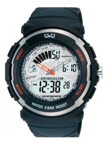 Reloj Q&q By Citizen Ana-digi Mo12j001y 50m Para Hombre