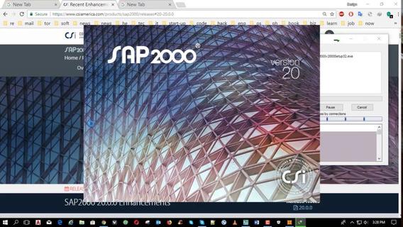 Sap2000 Versão 20 - 2018 - Todos Os Módulos - Ver. 2018