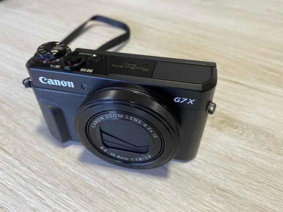 Câmera Canon G7x Mark Ii + 3 Baterias + Cart. De Mem. 64gb