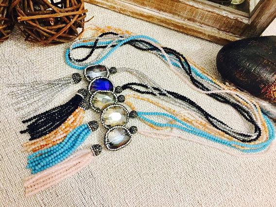 Collar De Cristal Y Rhinestone