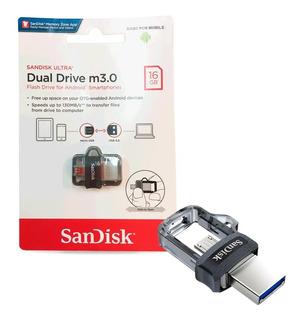 PENDRIVE DUO DUAL USB SANDISK 16GB USB /MICRO USB 3.0 PCE