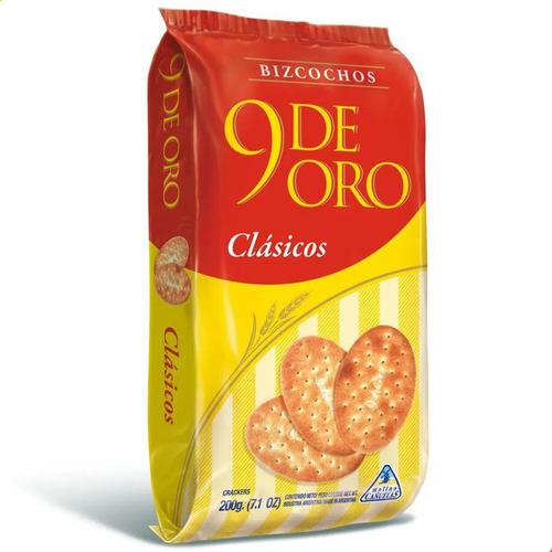 Bizcochito 9 De Oro Clasicos Galletitas 200g Bizcocho Snack