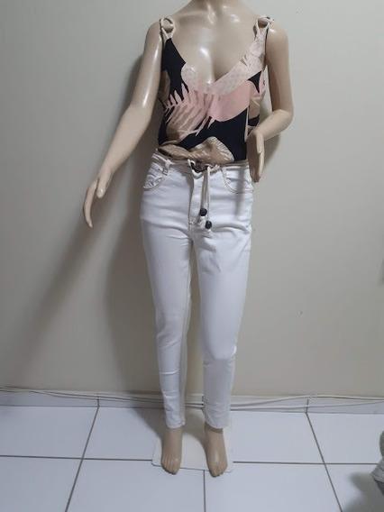 Calça Jeans Skinny Branca - Cpr005