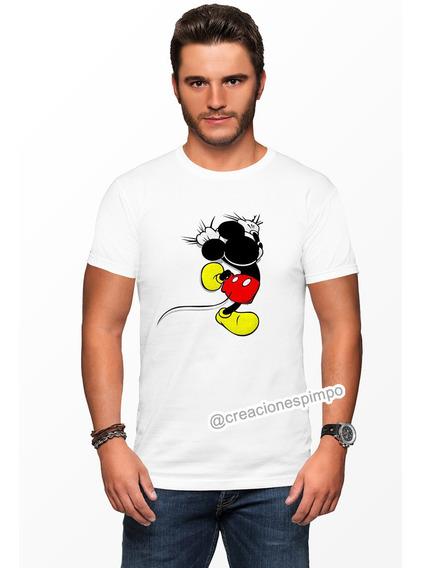 Camiseta Hombre Mickey Mouse Moda Lifestyle Poliester Cpr5