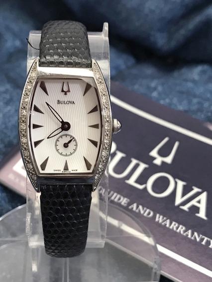 Relógio Nível Omega 18 Diamantes Certificados Bulova Acutron